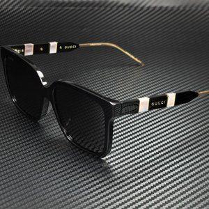 Gucci Black 56mm Sunglasses